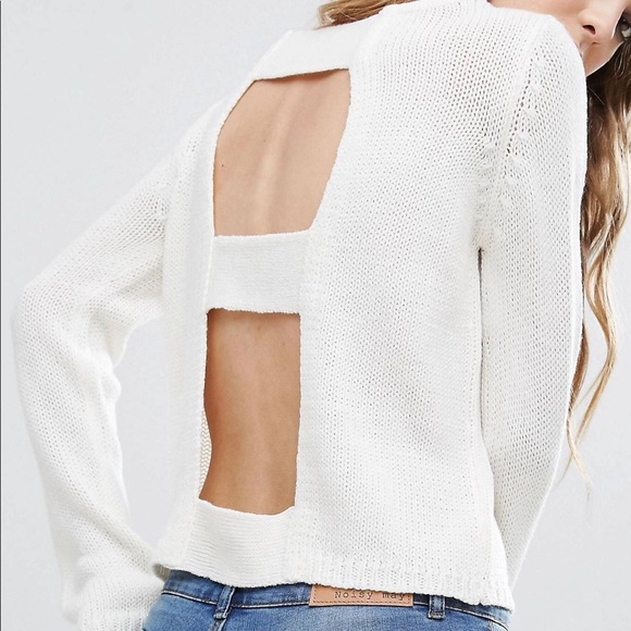 ASOS Sweaters - Open Back White Sweater XS